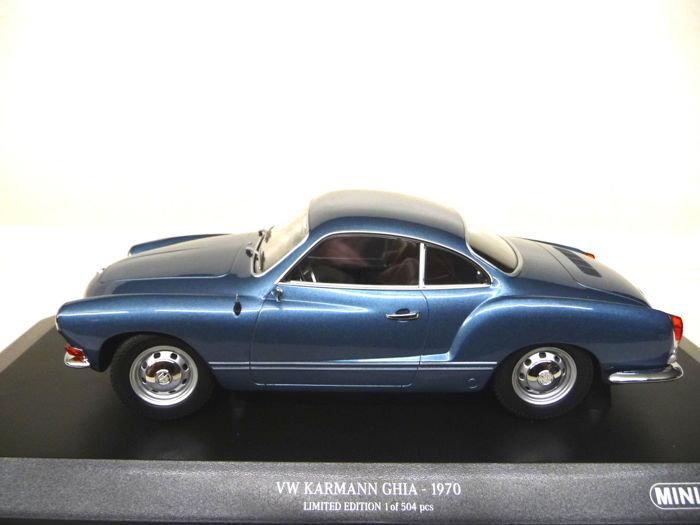 1:18 Minichamps VW Karmann Ghia Blue Limited Edition nuevo New