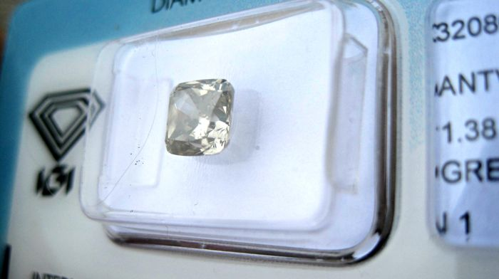 1 pcs Diamante - 1.38 ct - Cuadrado - I1