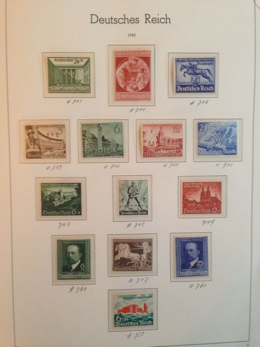 German Empire 1940/1945 - Collection between Michel 739 and 910