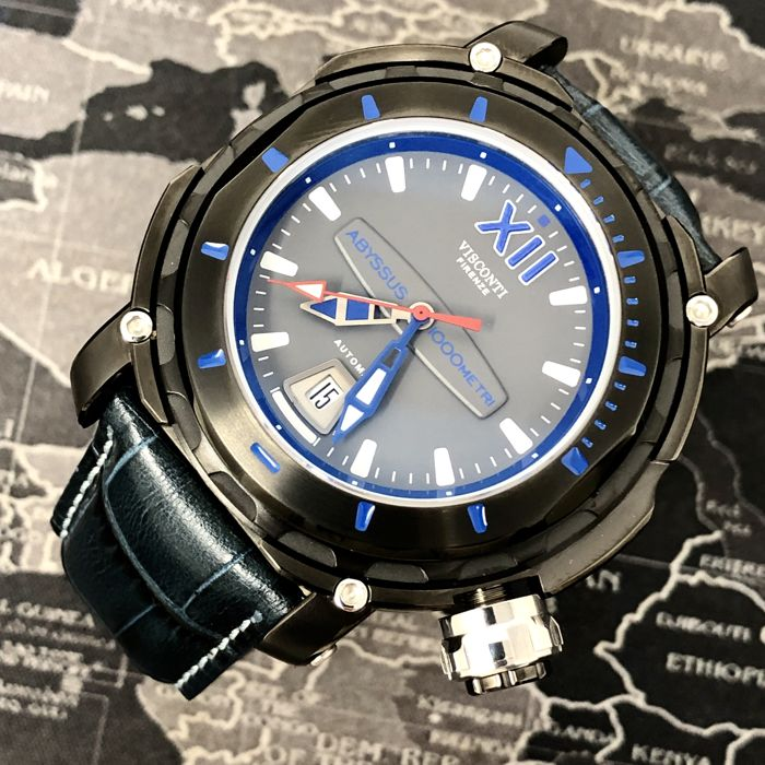 """Visconti - Automatic Abyssus Full Dive 1000 Gun Grey 2 Straps - KW51-02 """"NO RESERVE PRICE"""" - Homme - BRAND NEW"""