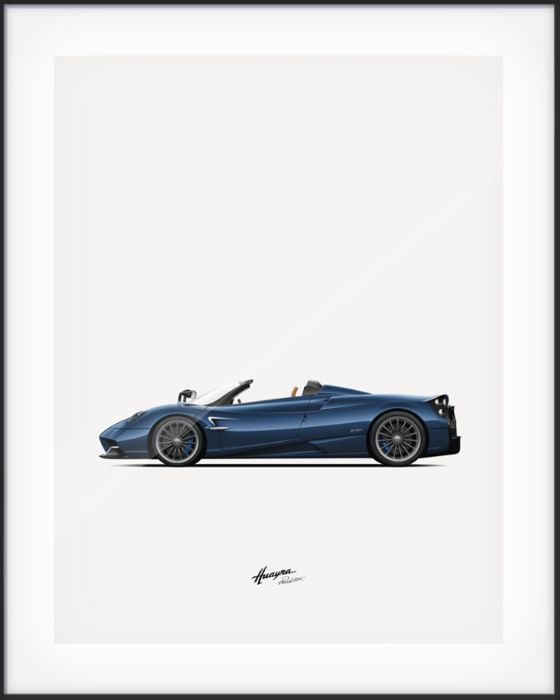 Poster - Pagani Huayra Roadster signed by Horacio Pagani - 2018 (1 items)
