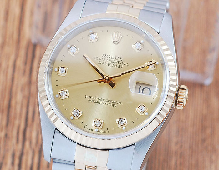 Rolex - Oyster Perpetual DateJust  - 16233G - Men - 1990-1999