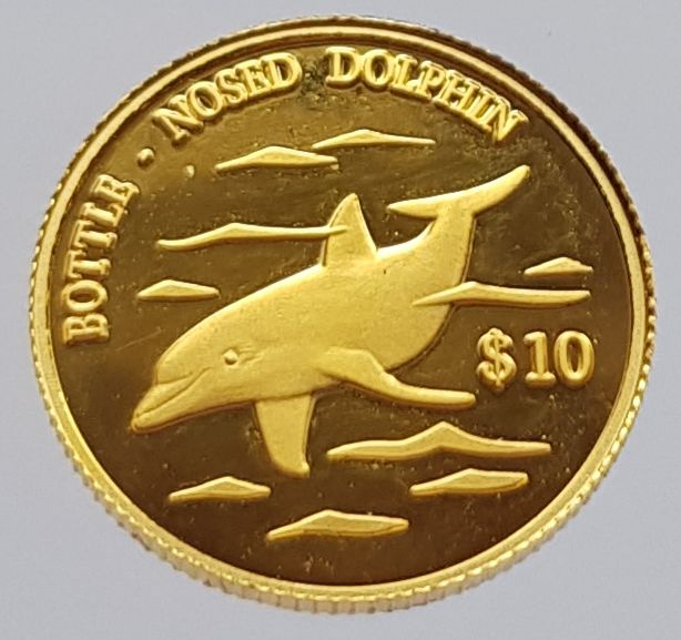 Cook Islands - 10 Dollar 2000 - Bottle nosed dolphin - Gold