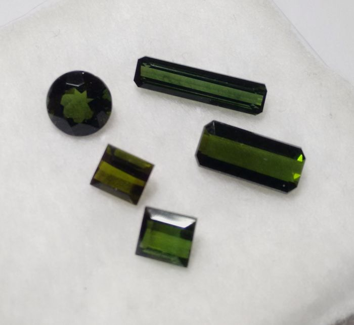 5 pcs Green Tourmaline - 6.52 ct
