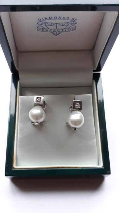 19,2 quilates Oro blanco - Pendientes Diamante