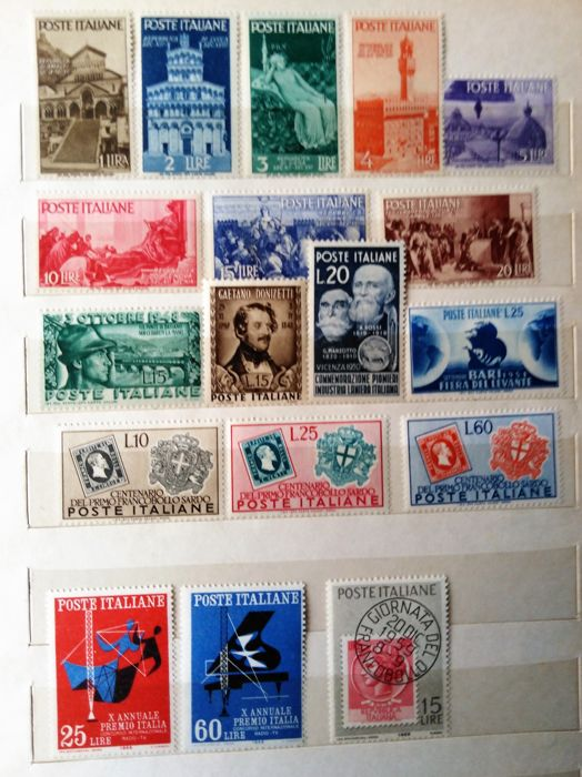 Italy 1948/1985 - Set of stamps MNH - Sassone