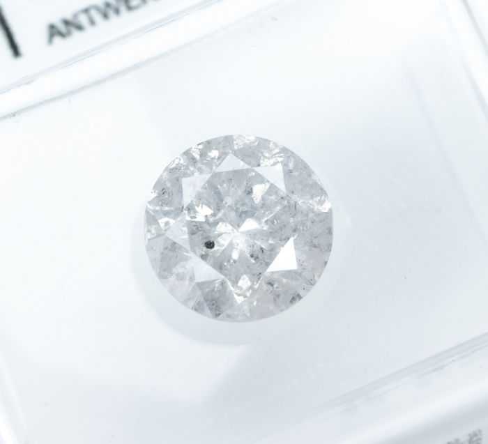 Diamond - 1.54 ct - Natural White - E color - I2  *NO RESERVE*