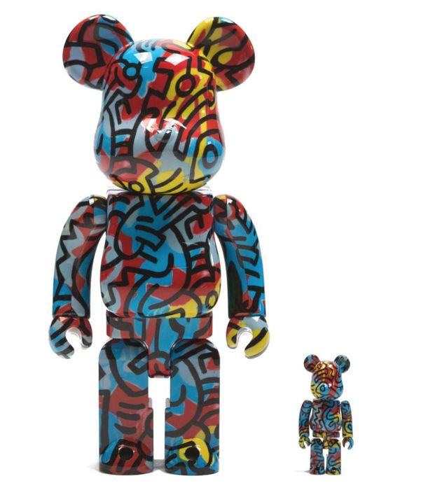 Keith Haring - Medicom 100% + 400% Bearbrick Figure Set