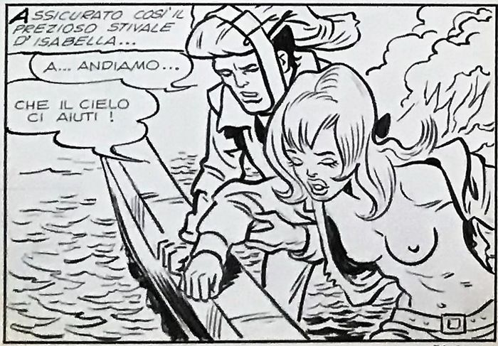 Isabella #78 - Sandro Angiolini - 8x Original Pages - Loose page - First edition - (1970)
