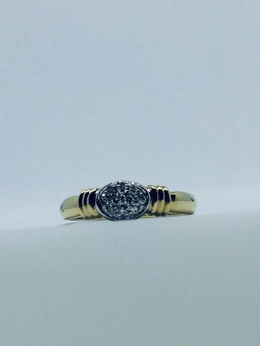 18 kt. Yellow gold - Ring Diamond - Diamond