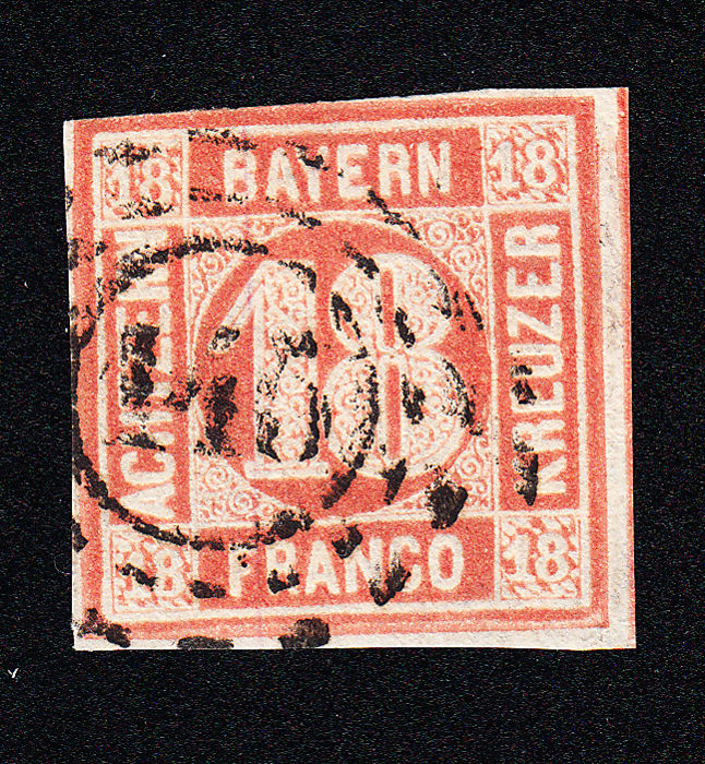 Bavaria 1866 - OMR 145, upper left minimally touched, otherwise flawless, new findings - Michel 13 b
