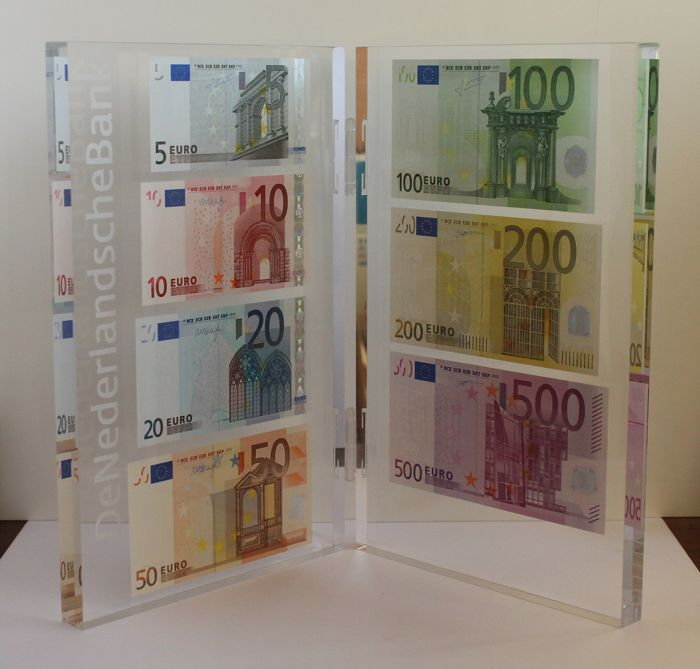 European Union - Netherlands - Presentation set with 5 to 500 euro - limited edition