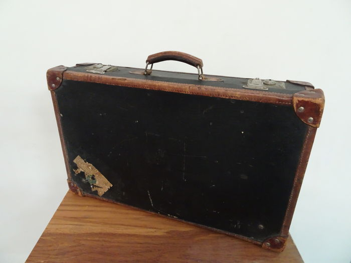 Used, Jozef Nachtigall - A Vintage Leather Suitcase - Leather Curio Curio for sale