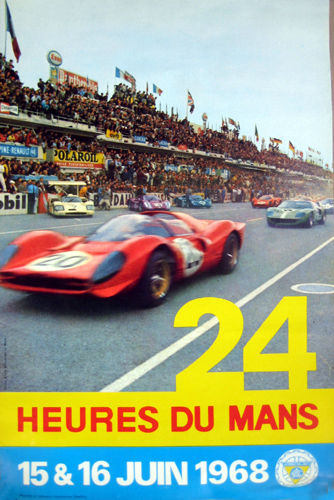 Póster - Poster 1968 24 Heures Mans original 24 Hours June Version - 1968-1968 (1 objetos)