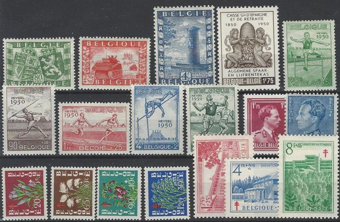 België 1950/1952 - Nos. 823 through 907 (without BL29 and 30) - OBP / COB