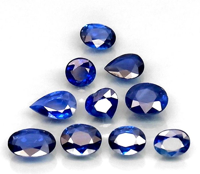 10 pcs Blu Zaffiro - 3.71 ct