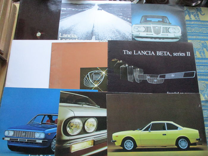 Brochure/Cataloghi - Lancia, 2000/Gamma/Beta/Coupe - 1971-1977