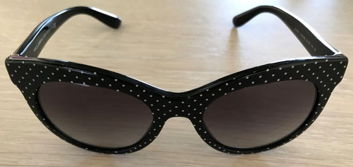 Dolce   Gabbana - Woman`s Cat Eye Polka Dot Sunglasses - Catawiki 2f35ed89f52bf
