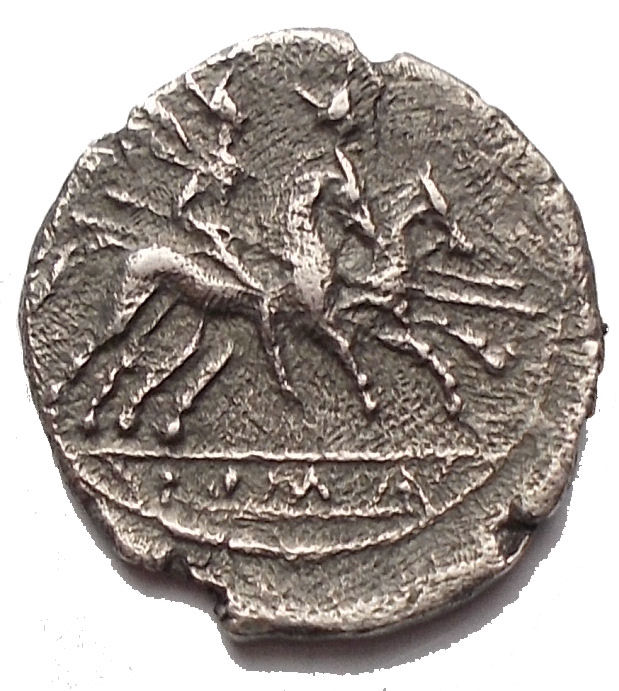 Roman Republic - AR Quinarius, after 211 B.C - Silver