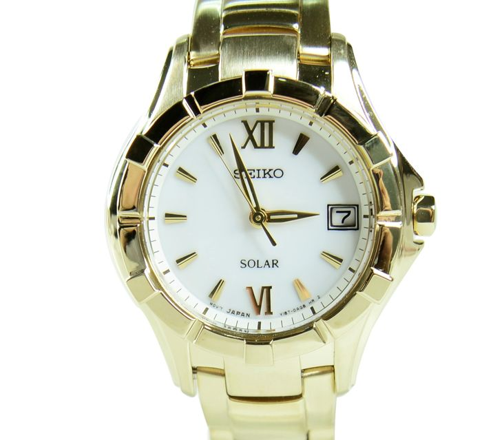 Seiko - ' NO RESERVE PRICE' Ladies solar gold-plated watch - SUT032P1 (No reserve price) - Dames - 2011-heden