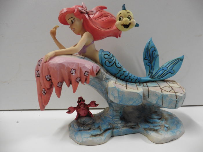 "Disney Showcase Collection - Traditions  - Beeldje -  "" Little mermaid on rock"" - (2014)"