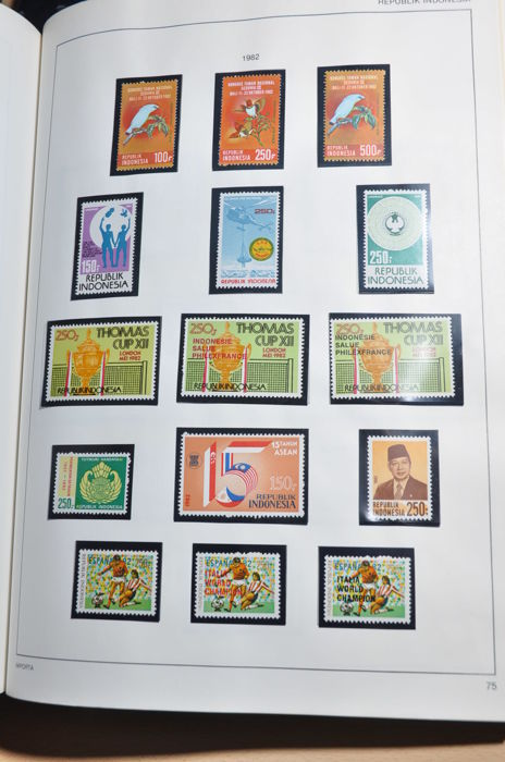 Indonésie 1948/1983 - Collection in clamp binder with various better ones