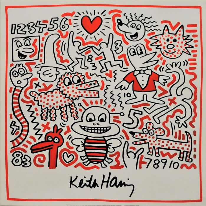 Keith Haring - Untitled (bee) - 2002