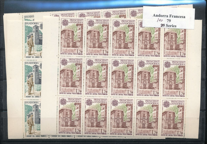 Andorra - French 1979 - Europa stamps 1979 Bulk batch of 2500 sets - Michel 297-298