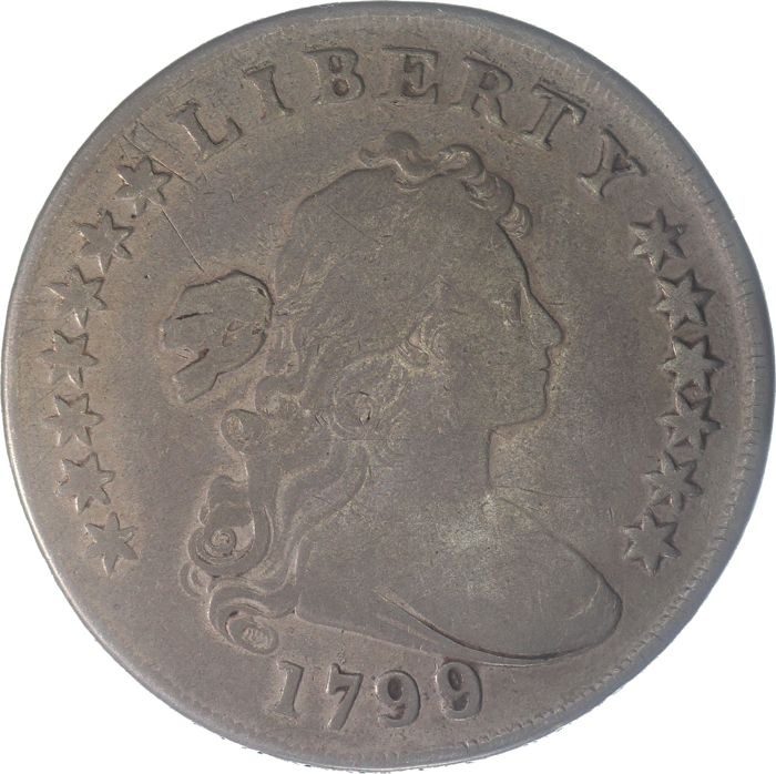"USA - Dollar (Drapped Bust) 1799 over 1798 jaartalwijziging ""13 stars"" - Silver"