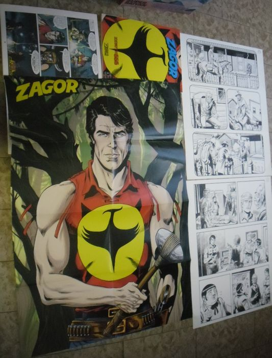 Zagor #626 - 2x original pages firmate + Zenith Variant con Poster - First edition - (2017)