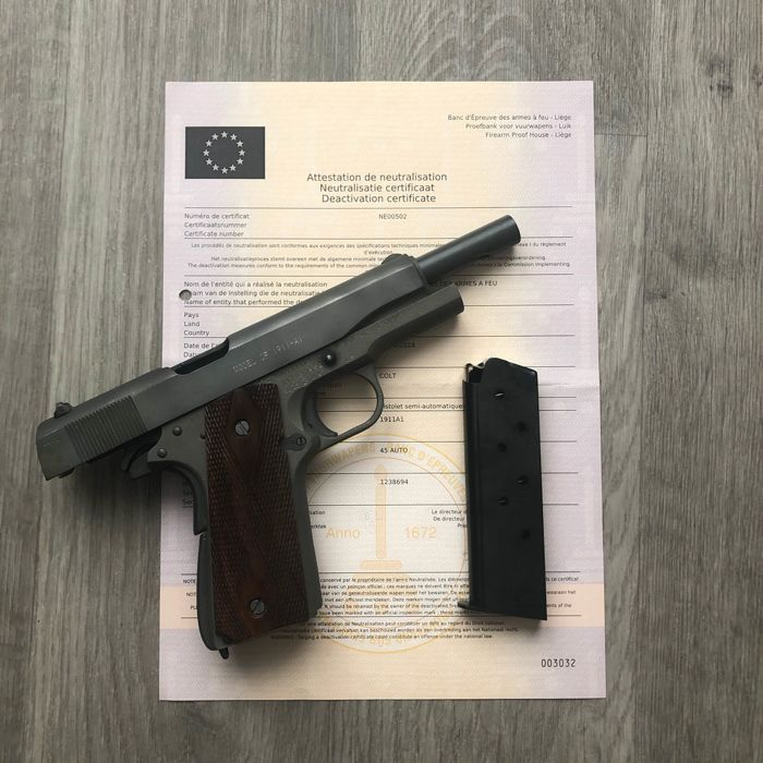 United States - Colt - M1911A1 - Autoloading - Centerfire - Pistol -  45  ACP cal - Catawiki