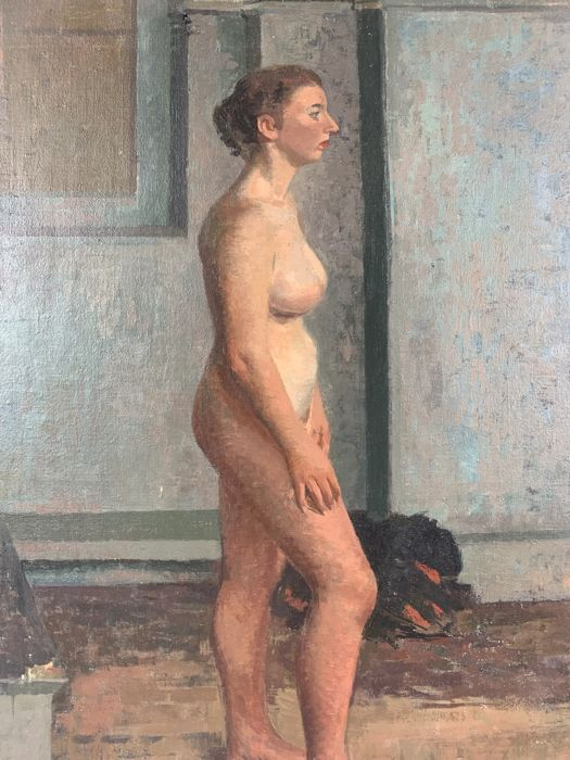 Stanley Robert Jones (b. 1927) - Study of a standing nude