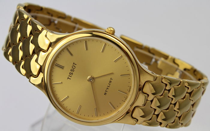 Tissot - Stylist - Gold Plated Bracelet - Box  - Swiss Made - Excellent Condition - Heren - 2011-heden