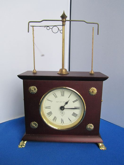 bb0661dad24ad0 Mantel clock - Horolovar - Wood / brass and glass - Second half 20th century