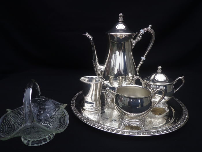 Coffee service - Silver plated - Italy - 1940/1950