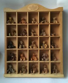 Collection de 25 ours en plaque murale en bois (26) - Bois