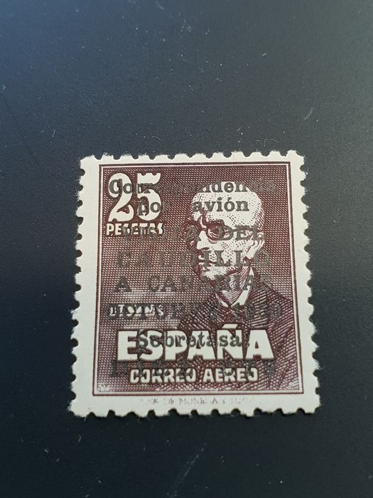 Spagna 1951 - 'Visita del Caudillo a Canarias' (Visit of Franco to the Canary Islands) with numeral. CEM certificate - Edifil 1090