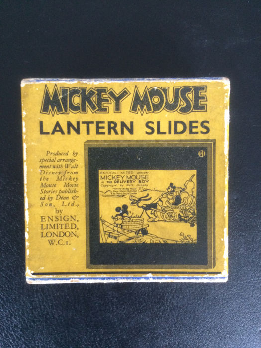 Disney - Magic Lantern Slides - Mickey Mouse in the Delivery Boy - (1935)