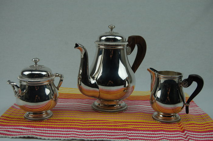 Coffee service (3) - Silverplate - France - Second half 20th century