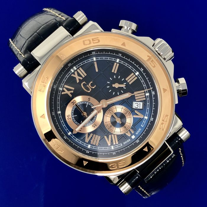 "Guess Collection  - GC Sport Chic Chronograph Watch Blue Swiss Made ""NO RESERVE PRICE"" - X90015G7S - Men - 2011-present"
