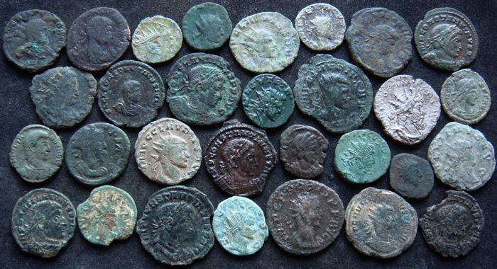 Roman Empire - Lot of 30 AE coins, 3rd - 4th century AD