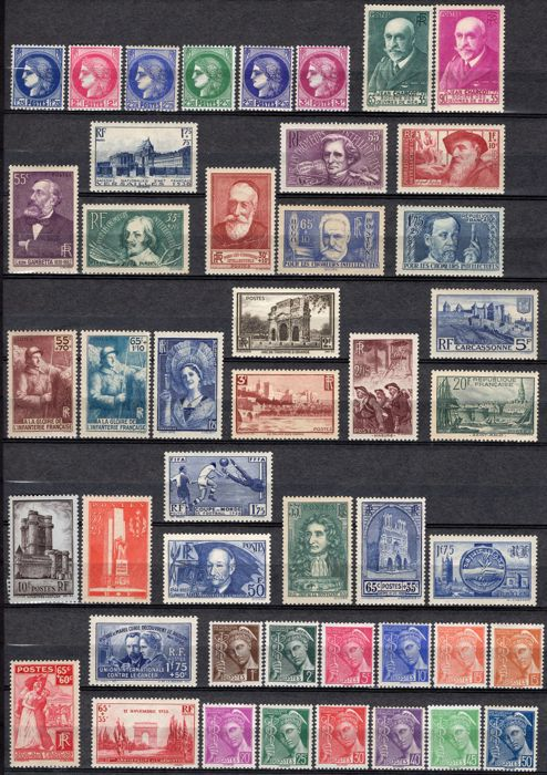 France 1938 - Complete year - Maury 372 à 418