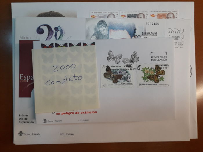 Spagna 1999/2000 - Complete collection of First Day Covers