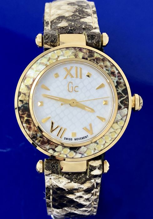 """Guess Collection  - Lady Chic Gold Snake skin pattern leather Swiss  - Y10003L1 """"NO RESERVE PRICE"""" - Femme - 2011-aujourd'hui"""