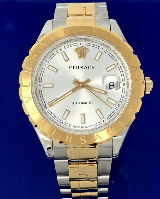 Versace - Automatic Hellenyium 42mm Blue Stainless Steel Swiss Made New - VZI040017 - Men - 2011-present