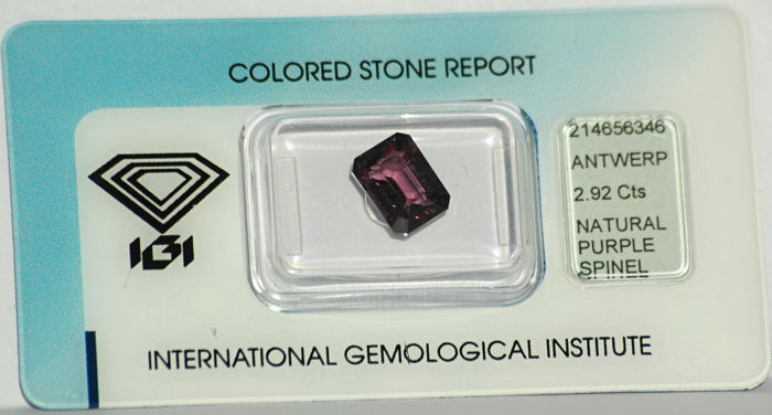 Fioletowy Spinel - 2.92 ct