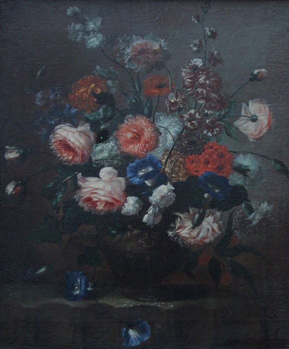 Dutch  School (18/19th Century) - Fine Dutch floral still life