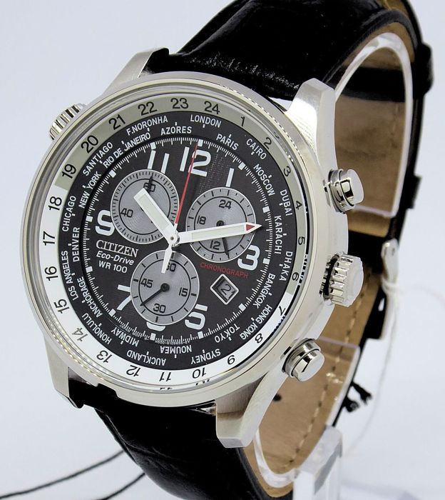 "Citizen - ""NO RESERVE PRICE"" Eco-Drive World Time Chronograph - Bărbați - 2011-prezent"