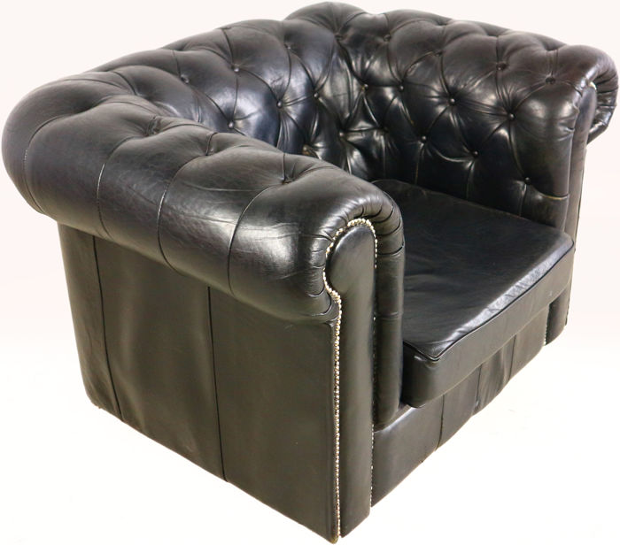 fauteuil club de style chesterfield catawiki. Black Bedroom Furniture Sets. Home Design Ideas