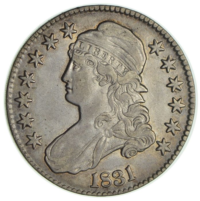 USA - 50 Cents (½ Dollar) 1831 'Capped Bust'